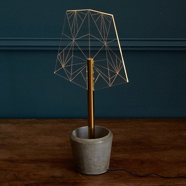 Crystalline Shade LED Lamp