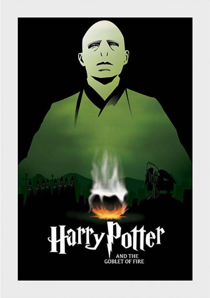 Cálice de Fogo - Harry Potter - Livros   Posters Minimalistas