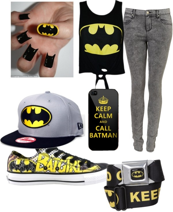 """batman"" by scene-girl-foreva ❤ liked on Polyvore"