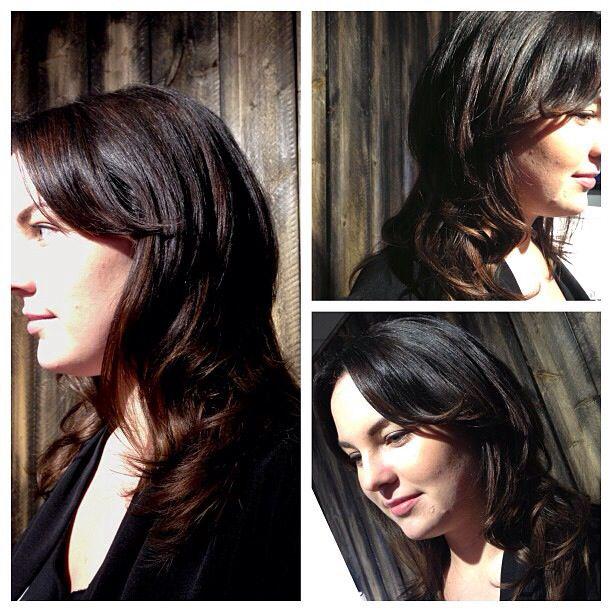 Beautiful brunette by www.dollhousehair.ca