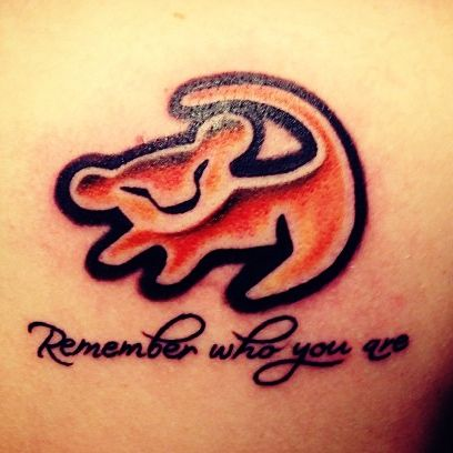 Remember who you are Lion King Tattoo! I've wanted this since I was a teenager, and I think that I might get it on my back or hip after baby!