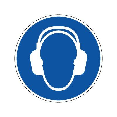 Hørselsvern Påbudt piktogram - Kjøp Påbudsskilt online