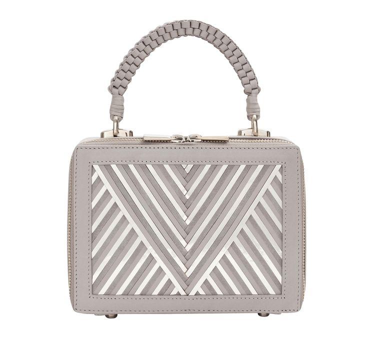 box bag metallic v taupe glamour sen taschen taupe phantasie bag. Black Bedroom Furniture Sets. Home Design Ideas