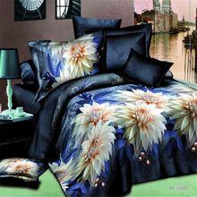2015 nova moda 3d roupa de cama Jogo de Cama Paisagem Bonita Família Pcs Colcha/roupa de cama/Fronhas Tamanho(China (Mainland))