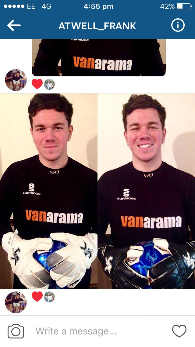 Check Out this cool dude  Say Hey To @atwell_frank professional goalkeeper Maidenhead United fc  Showing off in his #J4KRange