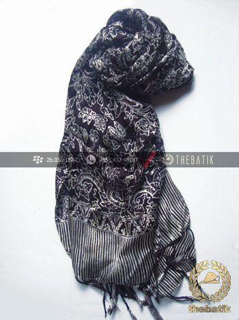 Selendang Batik Murah Grosir Warna Hitam | #Indonesia #Batik #Scarves Shawl Wholesale http://thebatik.co.id/syal-selendang-batik/