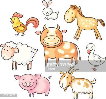 Vector Art : Farm animals