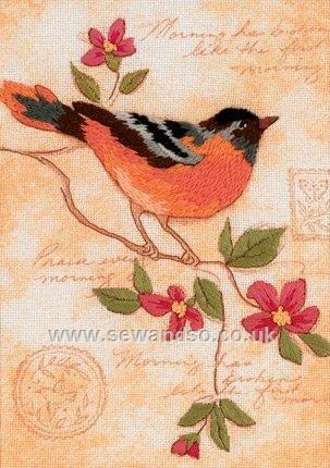 Shop online for Elegant Oriole Embroidery Kit at sewandso.co.uk. Browse our great range of cross stitch and needlecraft products, in stock, with great prices and fast delivery.