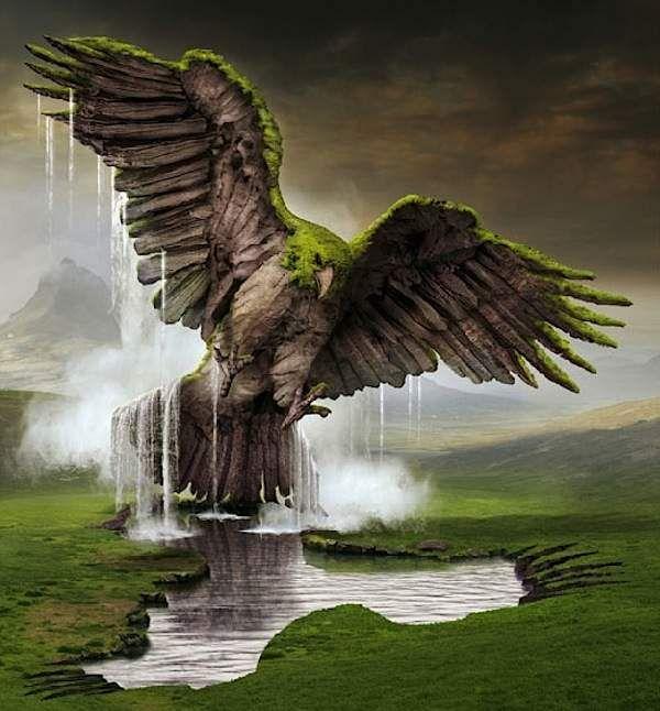 ♂ Dream / Imagination / Surrealism Surreal Illustrations by IgorMorski Jan - Green eagle
