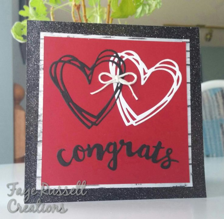 Wedding card made with Stampin' Up Sunshine Wishes thinlits.