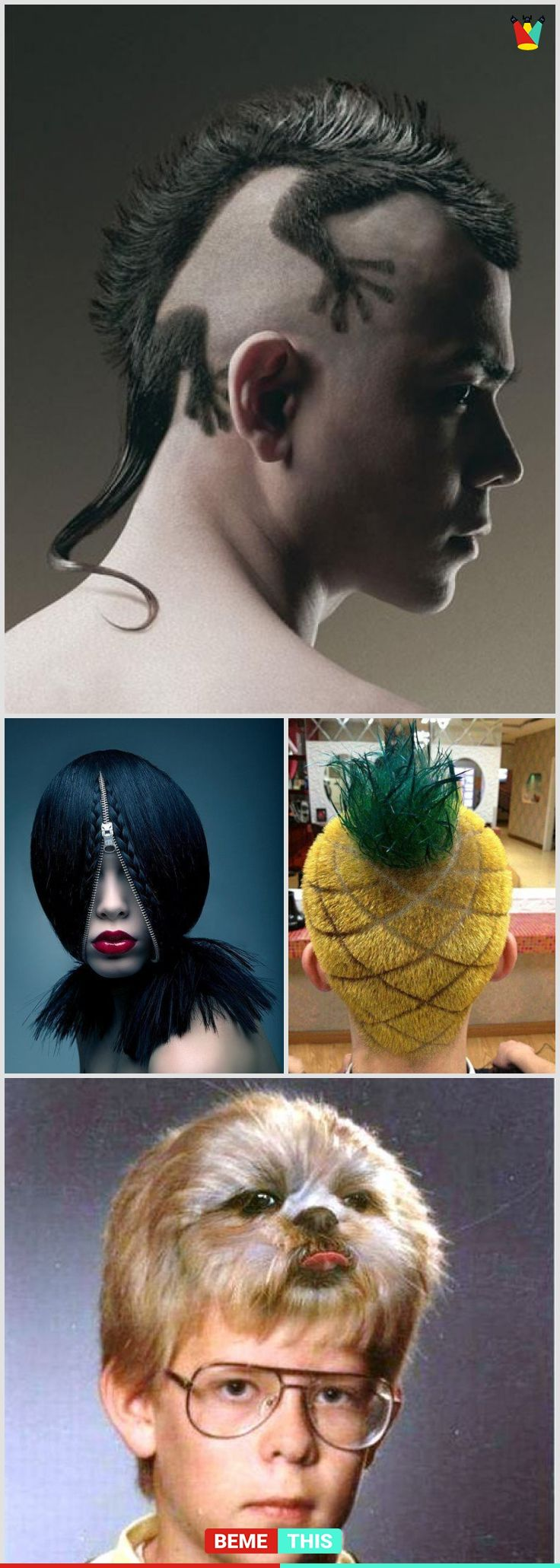 10+ of the Most Insane and Weird Hairstyles #funnypictures #hairstyles #weird #hairs