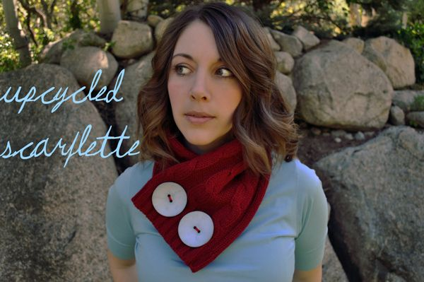 Upcycled Scarflette