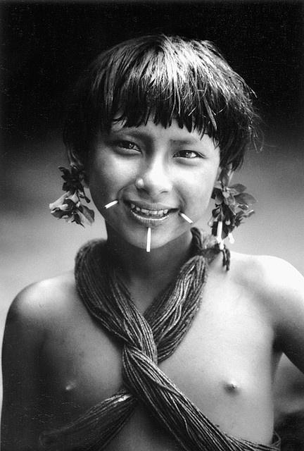 Waika Indian child  Venezuelan jungle