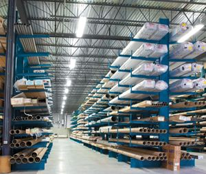 #Cantilever_Racks,  Cantilever Racks are specifically designed for double and single sided column use. Cantilever Rack columns are pre punched on both sides for exchange from single sided to double sided cantilever layouts in instance the warehouse storage requires change.