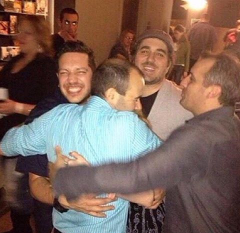 I love this picture! This is the picture at the viewing party of the first season of IJ