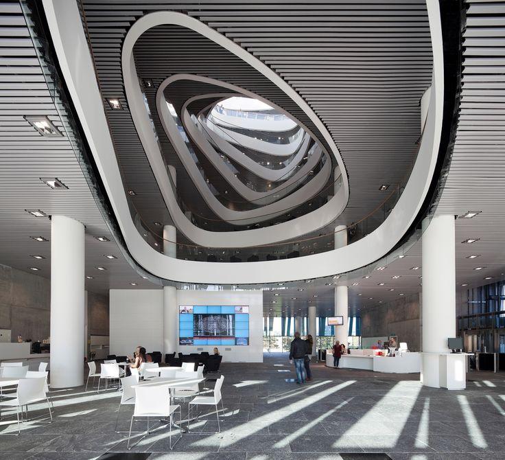 Inside the Aberdeen University Library in Aberdeen by schmidt hammer lassen architects