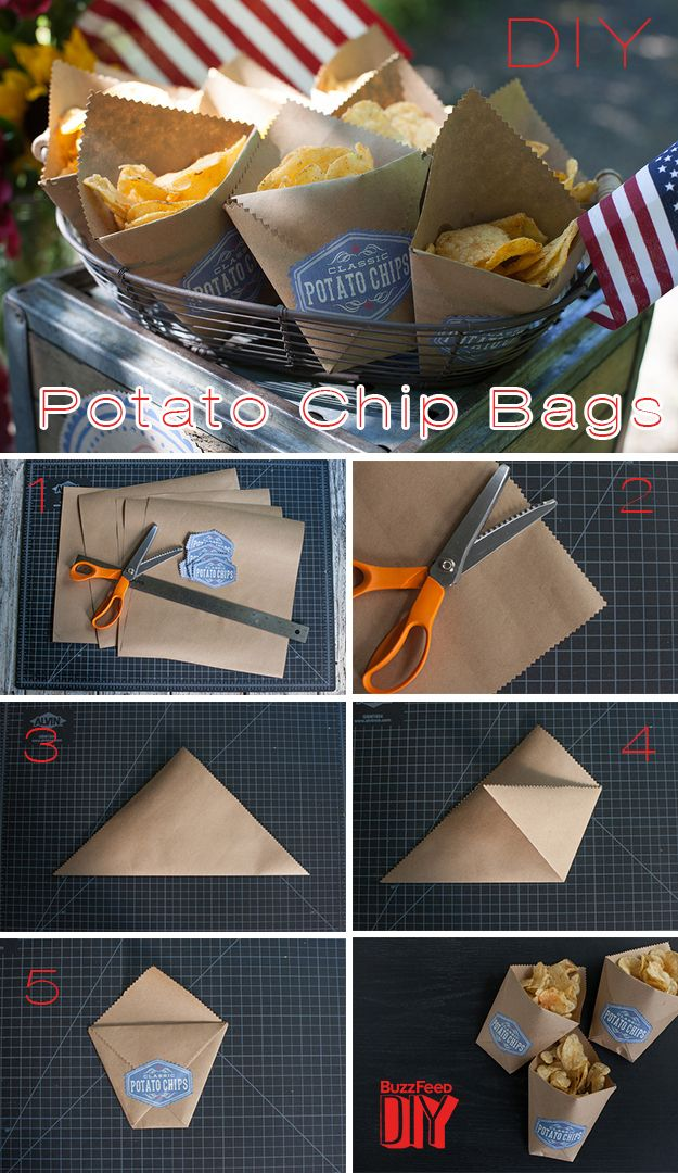 Make the potato chip bags to hold the dried lavender for the going away throws for the reception.
