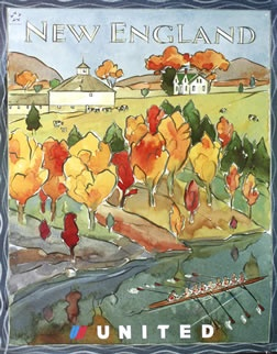 Dumville, Fritz poster: New England - United Airlines