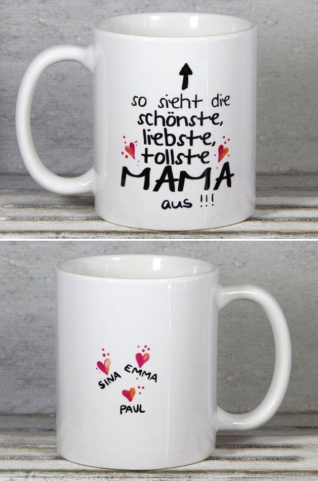 Tasse Geschenk zur Geburt mit Spruch Sohn Mama Familie Geschenk Muttertag