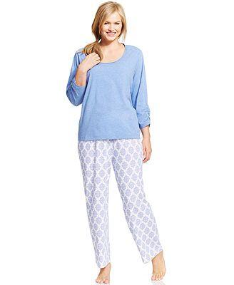 Nautica Plus Size Top and Knit Pajama Pants