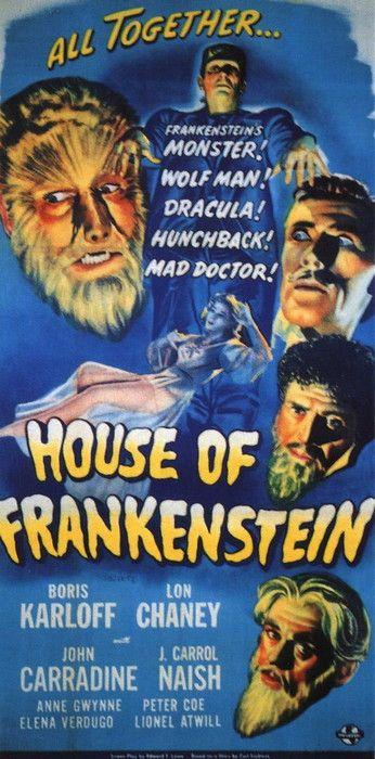 Vintage movie poster:  House of Frankenstein