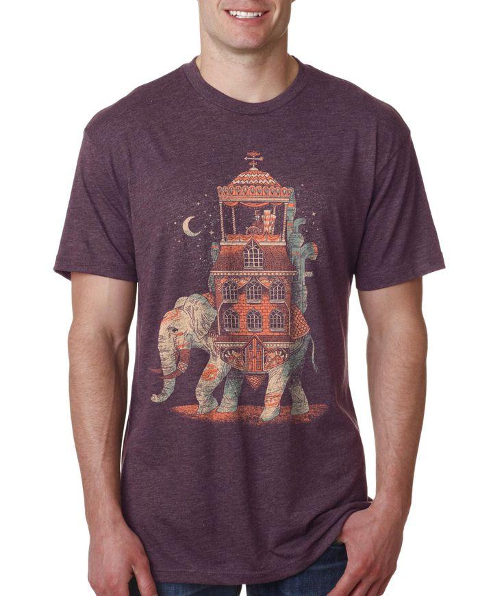 Elephant, India, Mens Shirt, Dapper, Mustache, Purple, Moon, Available S M L XL XXL by FuzzyInk on Etsy https://www.etsy.com/listing/112521863/elephant-india-mens-shirt-dapper