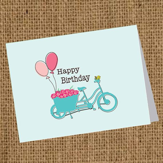 Birthday Card - Bicycle Wishes