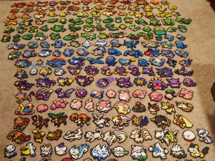 Pokemon Bead Sprite Set - Make Your Own Pokemon Team. $13.50, via Etsy.