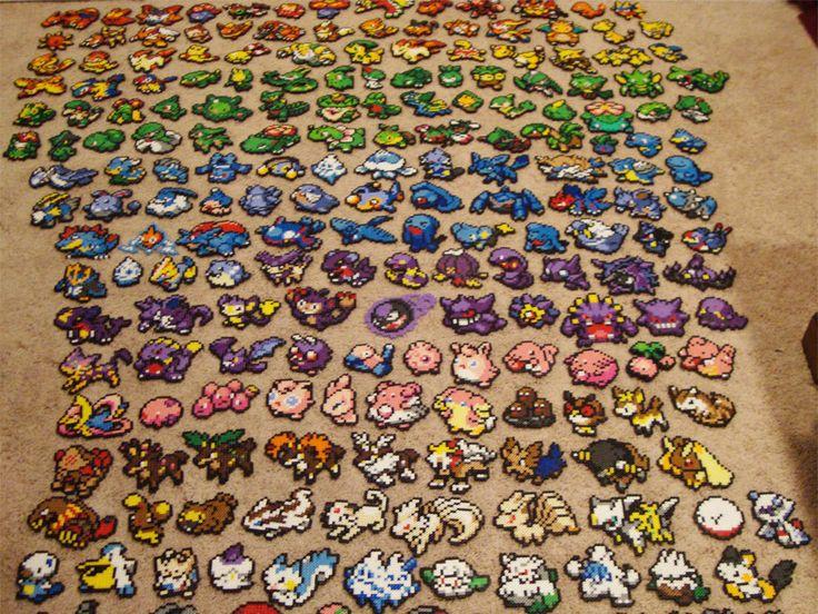 Pokemon Bead Sprite Set - Make Your Own Pokemon Team. $13.50, via Etsy.