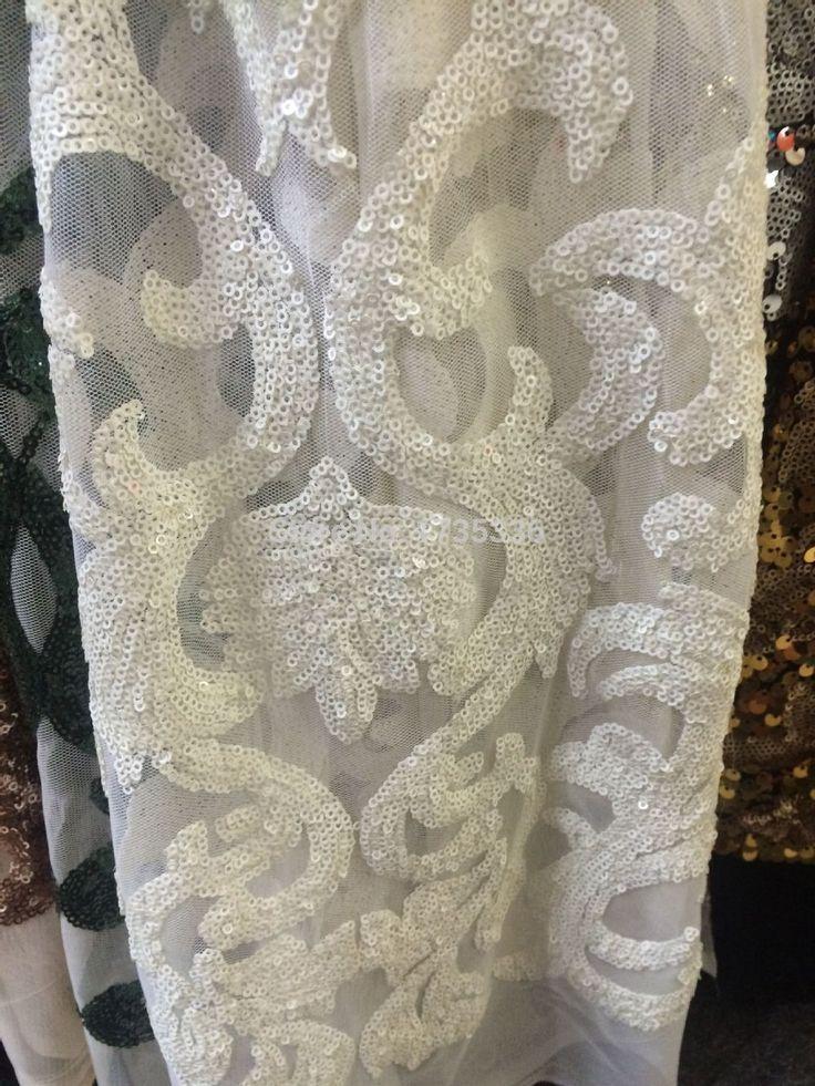 2015 последние романтические цветы Белый Африканский Шнур Гипюр Кружевной ткани Оптовая цена Водорастворимые Кружевная ткань С Блестками L535 купить на AliExpress