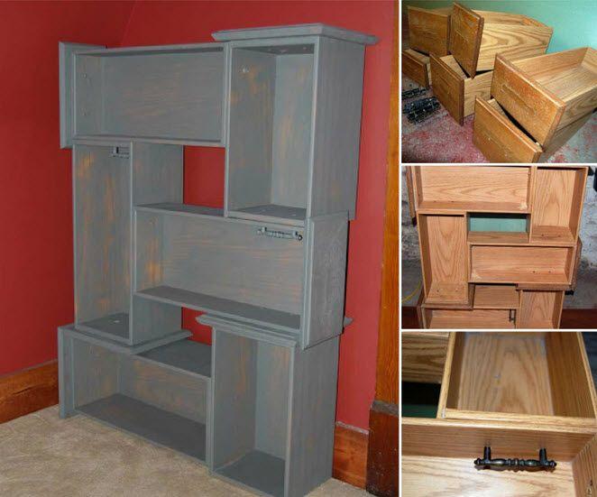 Recyclez vos vieux tiroirs pour en faire une jolie bibliothèque! • Quebec echantillons gratuits