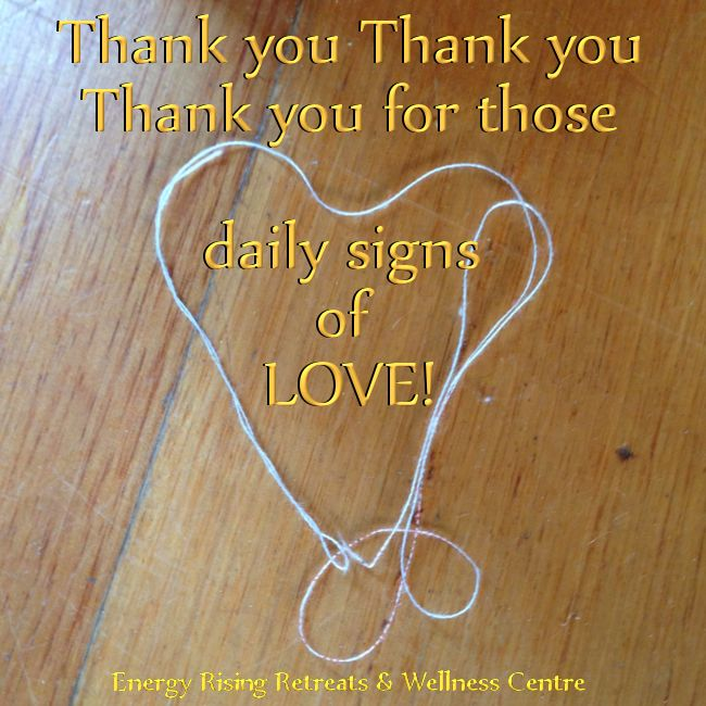 Thank you thank you thank you for the daily signs of #LOVE #heartseverywhere https://www.facebook.com/EnergyRisingRetreatsAustralia