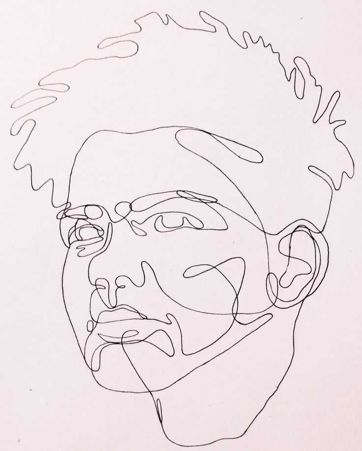 Continuous Line Drawing Of A Face : Best continuous line drawing images on pinterest