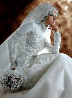 Modern Muslim Wedding Dresses Design With Veil