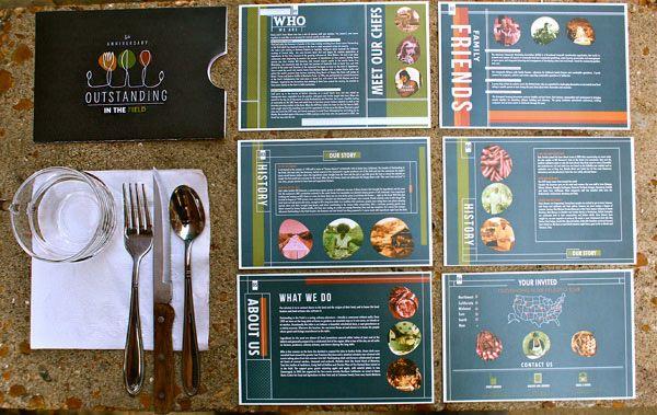 Restaurant Brochure Design Interesting layout choice for a - restarunt brochure