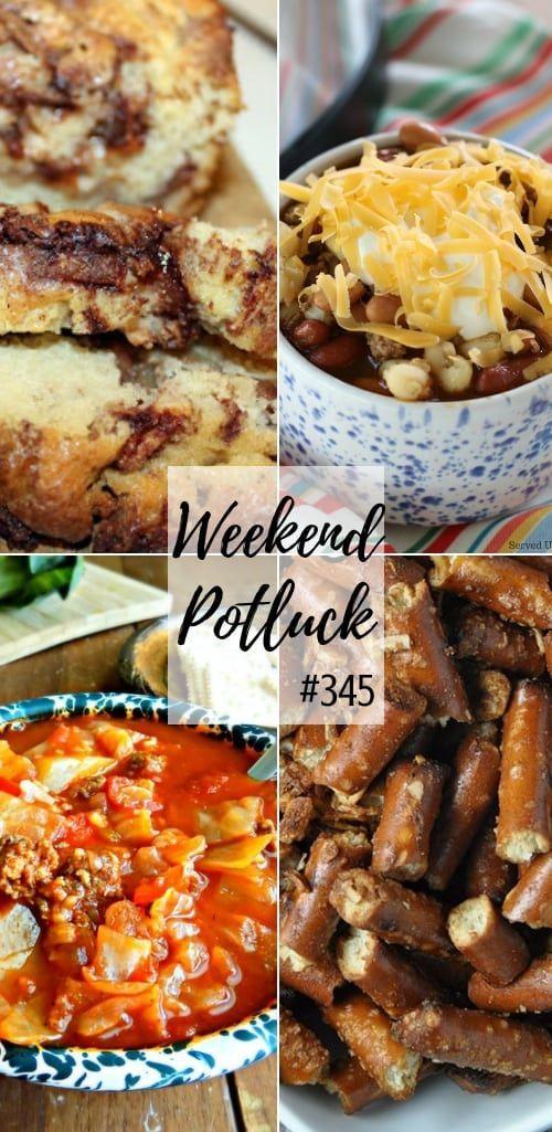 Weekend Potluck Featured Recipes Apple Fritter Bread Stuffed