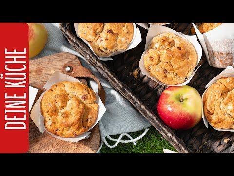 Apfel-Speck-Muffins | REWE Deine Küche - YouTube in 2019 ...