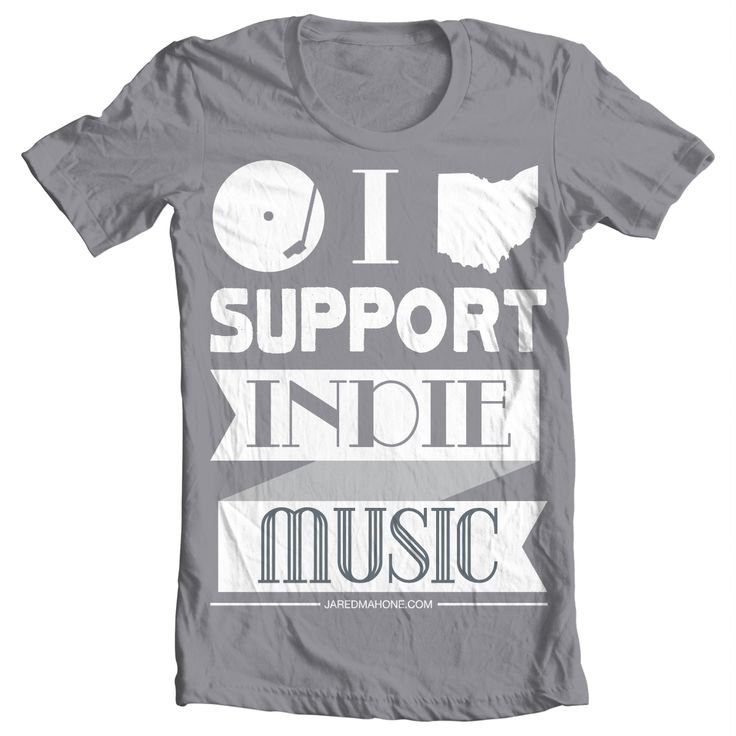 Support Indie Music: This shirt was created for Columbus, OH musician, Jared Mahone.