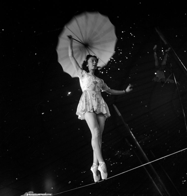 Intimate black and white portraits featuring the girls of the 1949 Barnum & Bailey Circus | Creative Boom