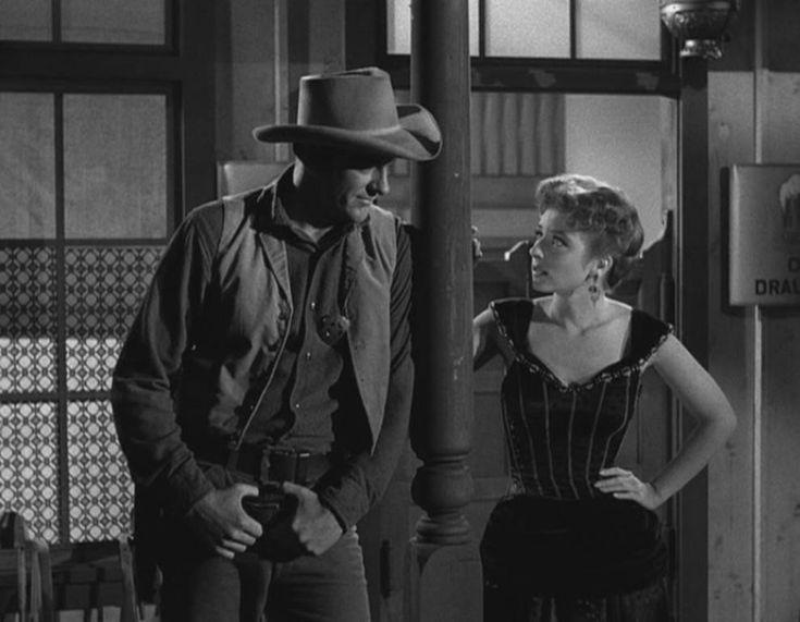 James Arness And Amanda Blake In Gunsmoke (1955)
