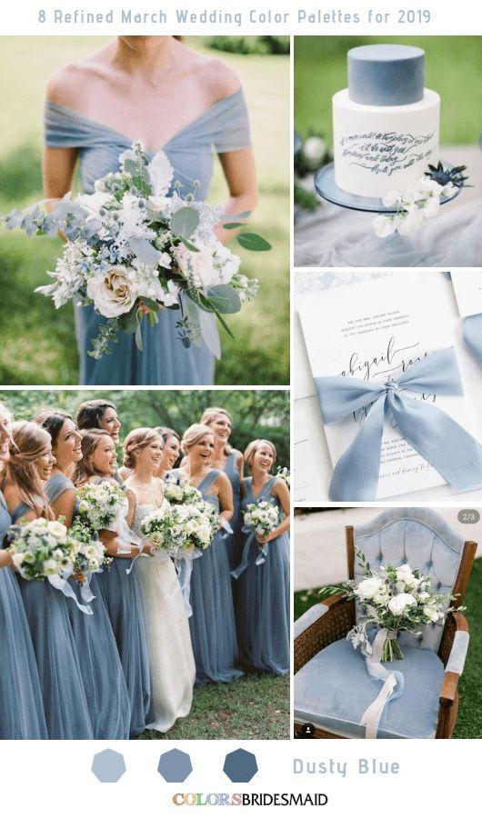 8 palettes de couleurs de mariage raffinées pour 2019 – wedding