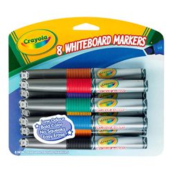 Product image for Crayola Dry Erase Whiteboard Markers Assorted Pack/8