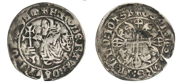 NumisBids: Numismatica Varesi s.a.s. Auction 67, Lot 487 : RODI ROBERT DI JUILLY (1374-1376) Gigliato. D/ Il Gran Maestro...