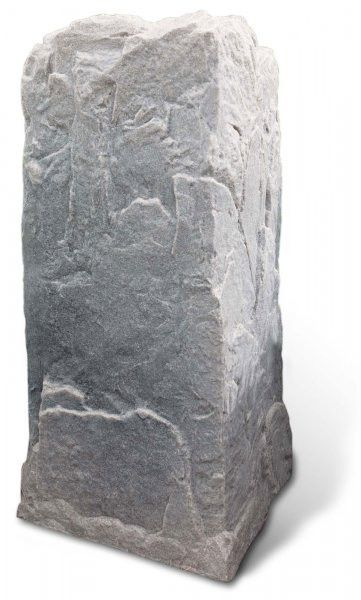 "Fake Rock Artificial Stone Telephone Pedestal Cover (Fieldstone) (34""H x 17""W x 18""D)"