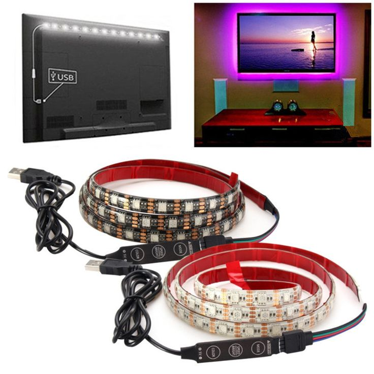 2M Waterproof USB SMD5050 120 LED RGB Strip Light Bar TV Background Lighting Lamp 5V