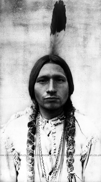 A young Sitting Bull by Ervin Usman