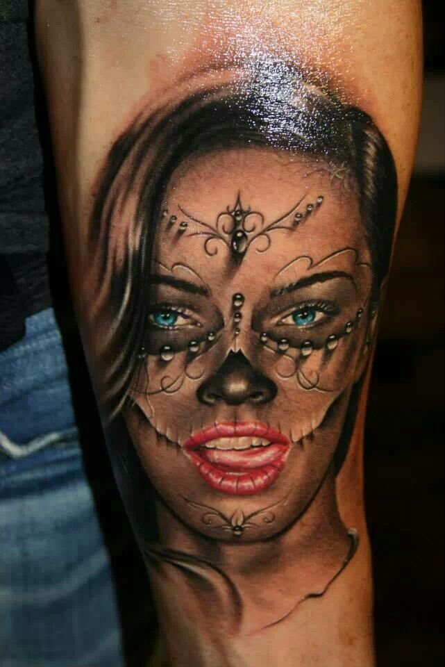 tattoo by tibor szalai la catrina lacatrina muerta. Black Bedroom Furniture Sets. Home Design Ideas