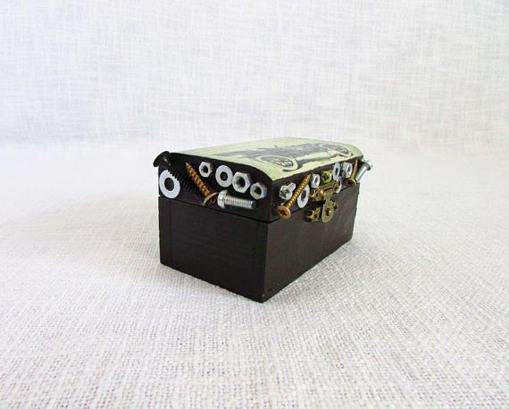 Bolts box screw nuts box vintage box gift for boyfriend