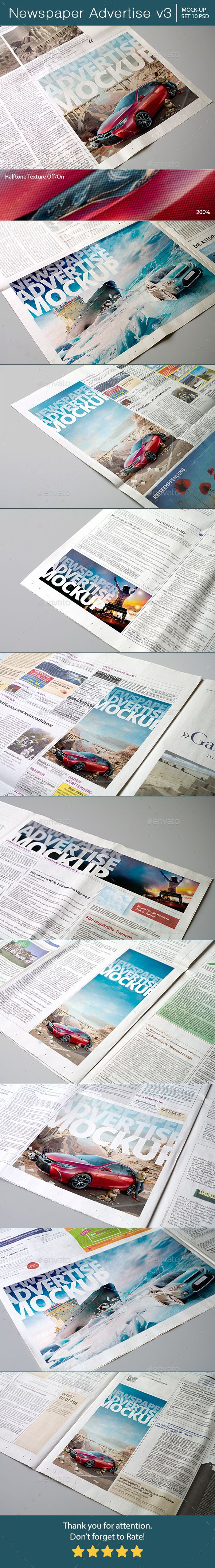 Newspaper Advertise Mockup #design Download: http://graphicriver.net/item/newspaper-advertise-mockup-v3/14288069?ref=ksioks