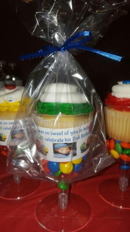 Cupcake Favor Cupcake In A Plastic Wine Glass With